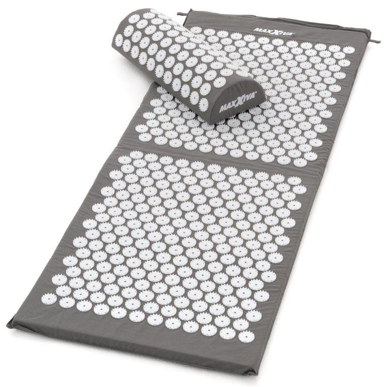 MAXXIVA Akupresurní podložka s polštářem, 130x50 cm, šedá