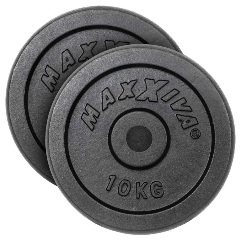 MAXXIVA Sada závaží 2 x 10 kg, litina