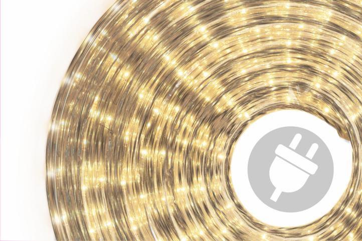 Světelný kabel - 720 minižárovek, 20 m, teple bílý
