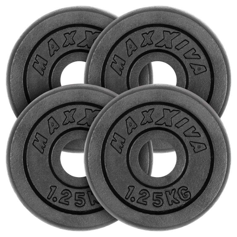 MAXXIVA Sada 4 závaží na činky celkem 5 kg, litina, černá
