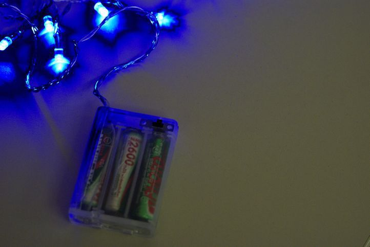 Vánoční LED osvětlení Garth 4,5m - modré, 30 diod
