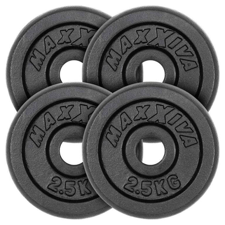 MAXXIVA Sada 4 závaží na činky celkem 10 kg, litina, černá