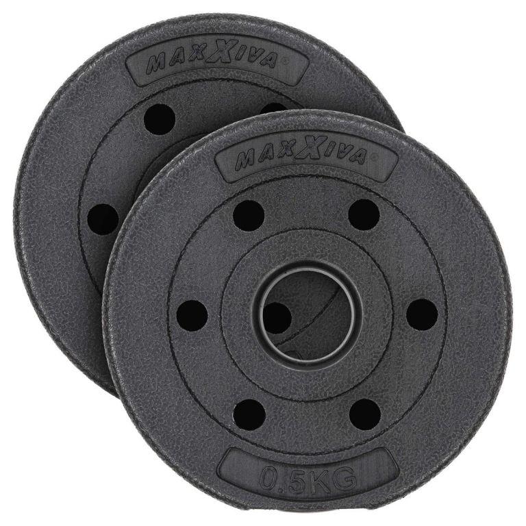 MAXXIVA Sada závaží 2 x 0,5 kg, cement, černá