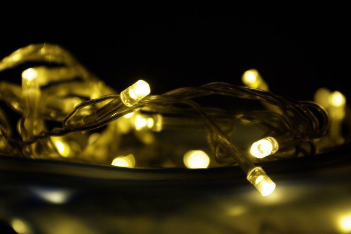 Vánoční LED osvětlení 5 m - teple bílé, 50 diod