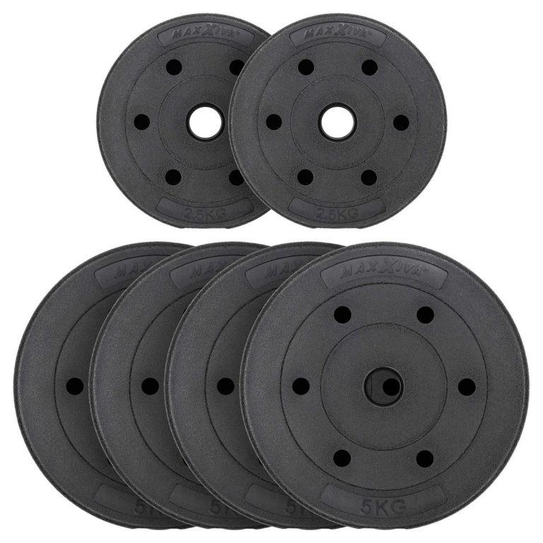 MAXXIVA Sada závaží 25 kg, cement, černá, 6ks
