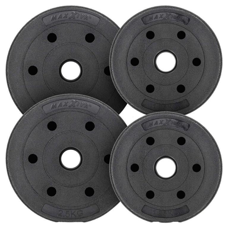 MAXXIVA Sada závaží 7,5 kg, cement, černá, 4ks