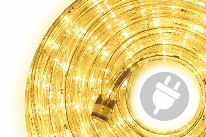 LED světelný kabel - 240 diod, 10 m, žlutý