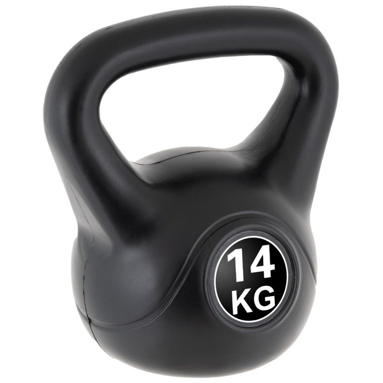 MAXXIVA Kettlebell činka, černá, 14 kg