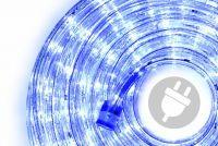LED světelný kabel - 240 diod, 10 m, modrý