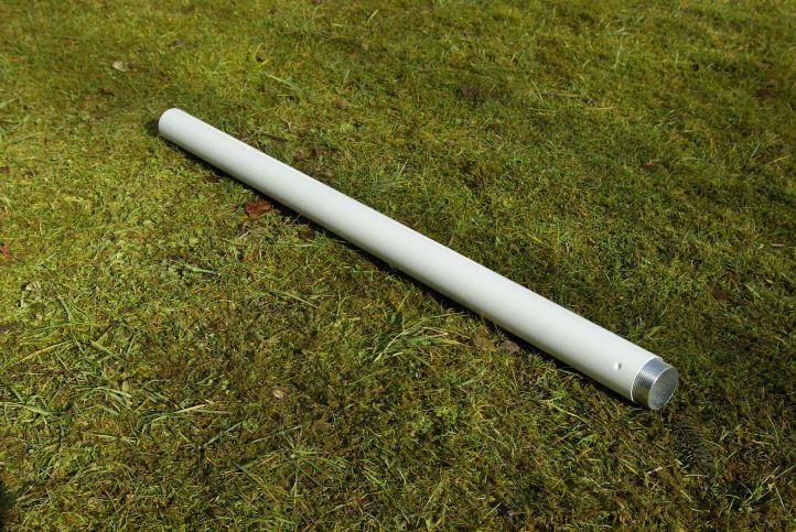 Slunečník Garth s klikou - bílý, 4 m