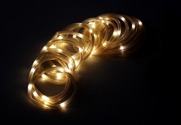 Zahradní světelný řetěz Garth- 50x LED dioda teplá bílá