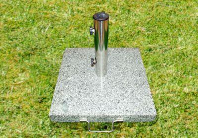 Stojan na slunečník - žula / nerezová ocel, 40 kg