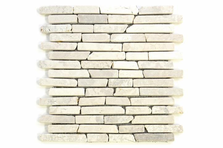 Mramorová mozaika Garth – krémová obklady 1 ks