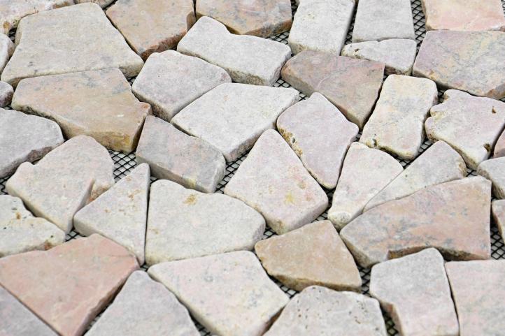 Mramorová mozaika DIVERO béžová/růžová 1 ks