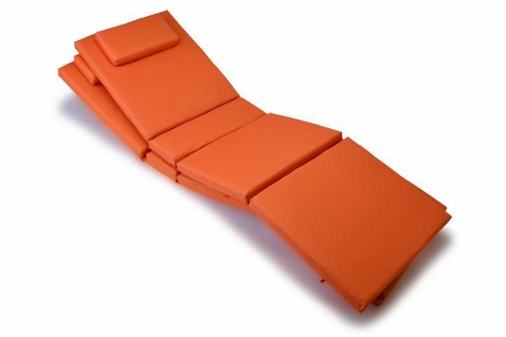 Sada 2 kusů polstrování na lehátko Garth – oranžová