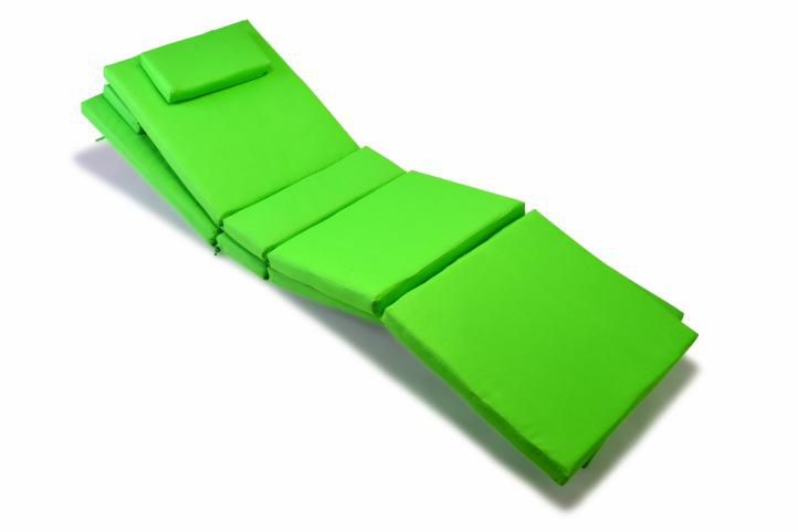 Sada 2 kusů polstrování na lehátko Garth - zelená