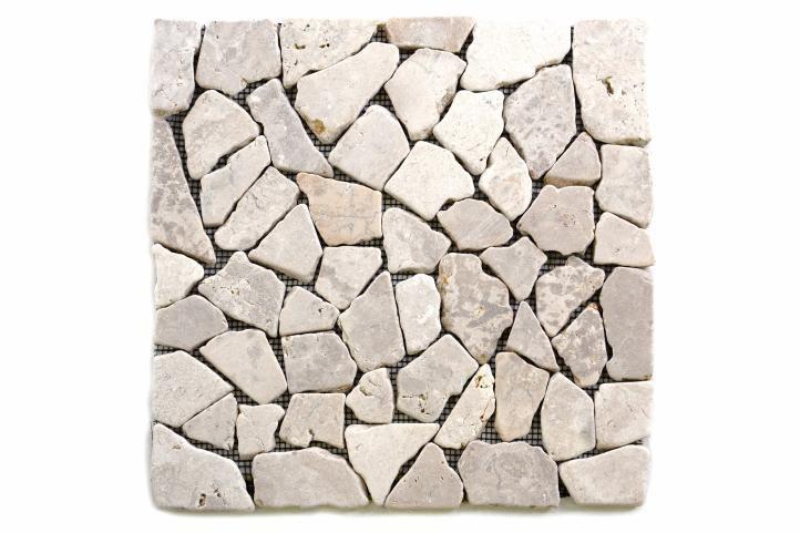 Mramorová mozaika Garth - bílá obklady 1 ks