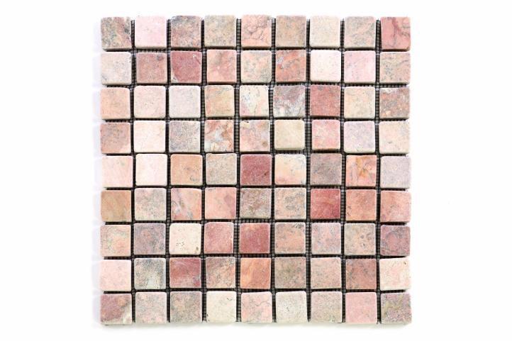 Divero Garth 9649 Mramorová mozaika - červená obklady 1ks - 30 x 30 cm