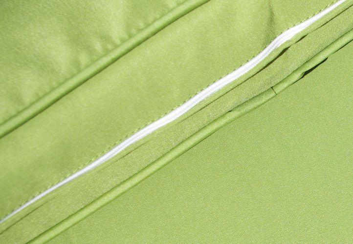 Polyratanový set Garth + zelené polstrování, 3 ks