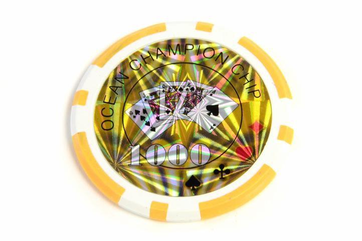 Kusový žeton design Ocean Hodnota 1000 - 50 ks