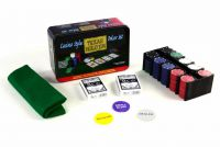 Pokerový set - žetony 200ks v plechové dóze