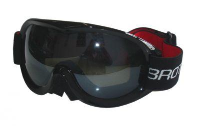 Lyžařské brýle pro dospělé - dvojsklo - černé