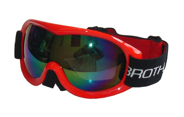Lyžařské brýle BROTHER SENIOR B259 - dvojsklo - červené