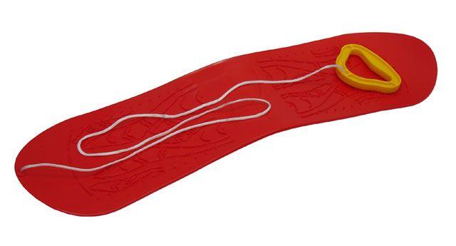 Snowboard dětský plastový - červený