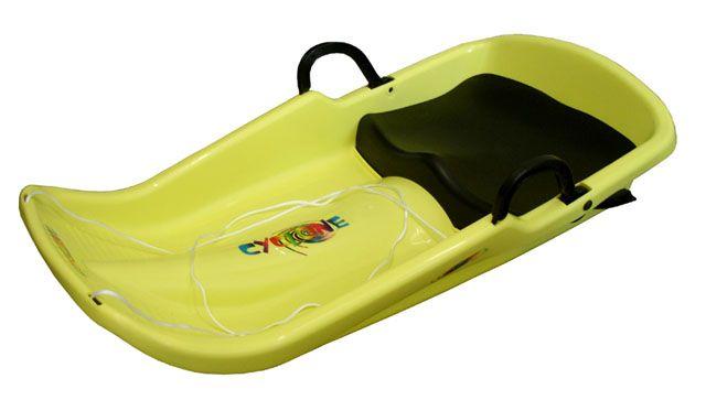 Cyclone plastový bob - žlutý