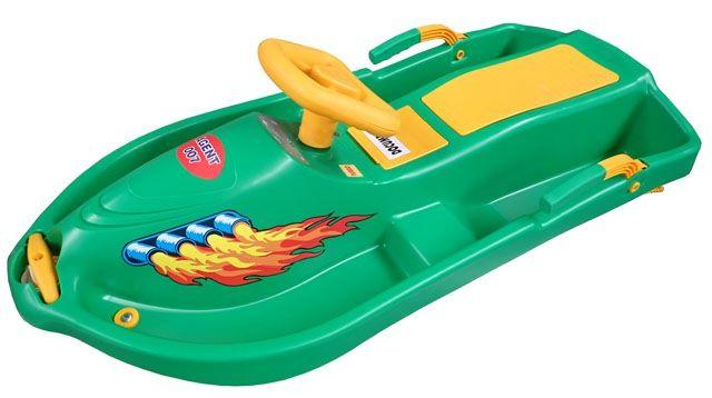 Boby s volantem Snowboat - zelený