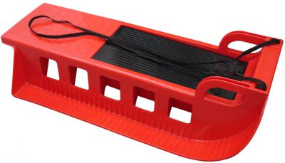 Kamzík - plastové sáně - červený