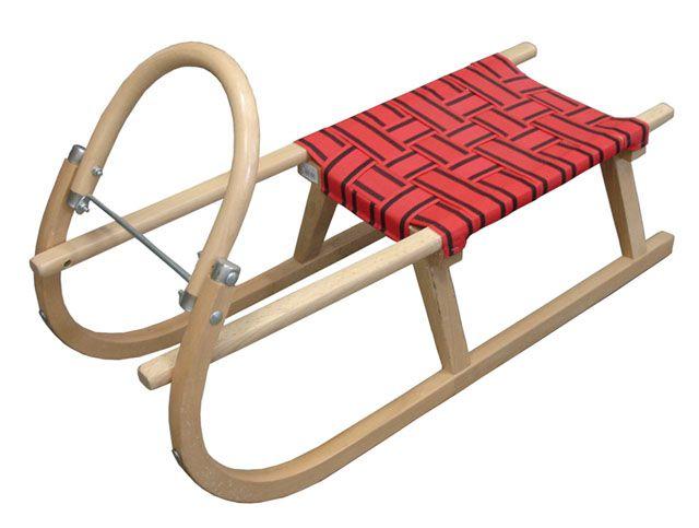 Acra sáně 100cm dřevěné červené