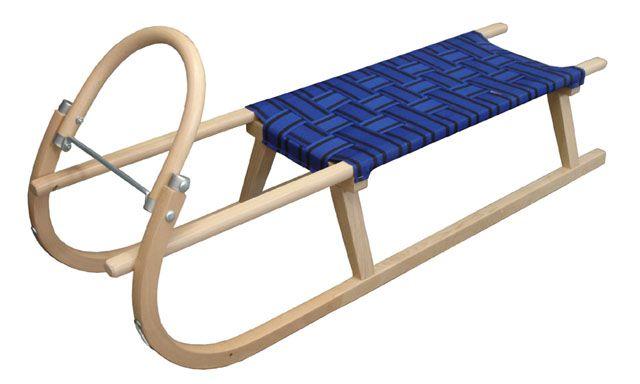 Sáně 125cm dřevěné – modré