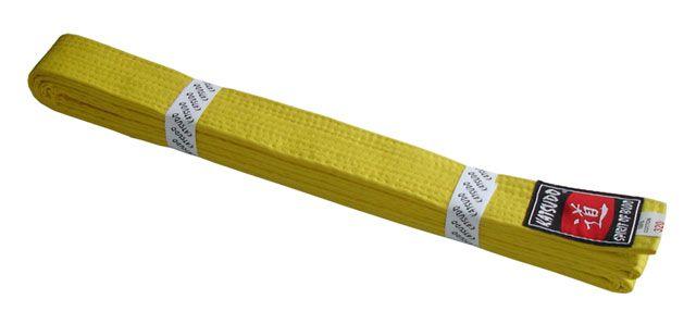 Pásek ke kimonu KATSUDO - žlutý