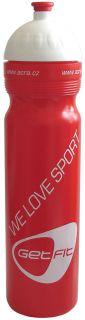 CorbySport Sportovní láhev 1L červená