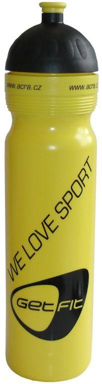 Sportovní láhev 1L žlutá