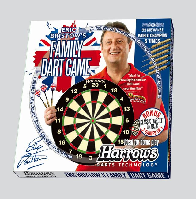 Sada terč a 6 ks šipek HARROWS Family Dart Game