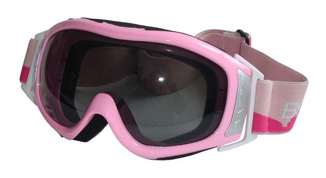 Lyžařské brýle, růžové