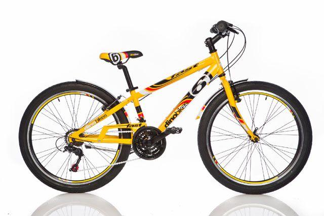 Chlapecké sportovní kolo Dino 24″ žluté