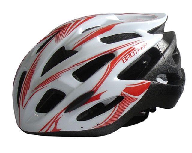 Bílá cyklistická helma velikost M (56/58cm) 2015