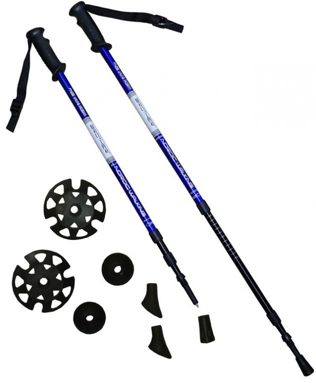 Trekingové hole1 pár s příslušenstvím modré