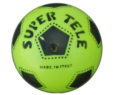 Gumový potištěný míč SUPER TELE FLUO