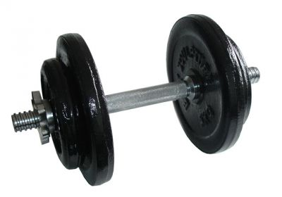CorbySport Činka nakládací jednoruční - 17 kg
