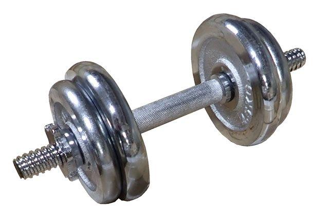 Nakládací činka jednoruční, chromovaná - 10kg