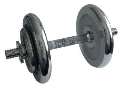 CorbySport Činka nakládací, jednoruční, chromová - 14 kg