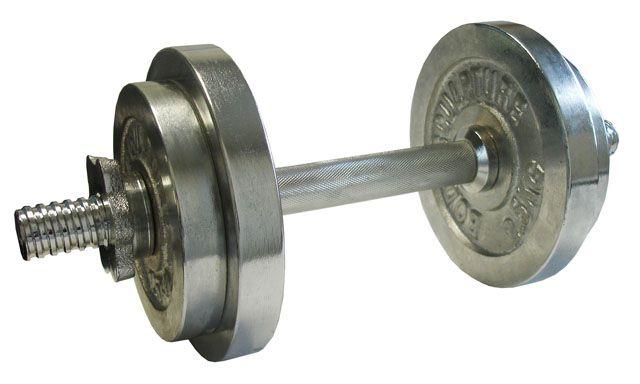 Nakládací činka jednoruční, chromovaná 10kg