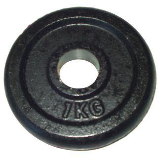 CorbySport Litinový kotouč (závaží) na činky 1kg- 25 mm