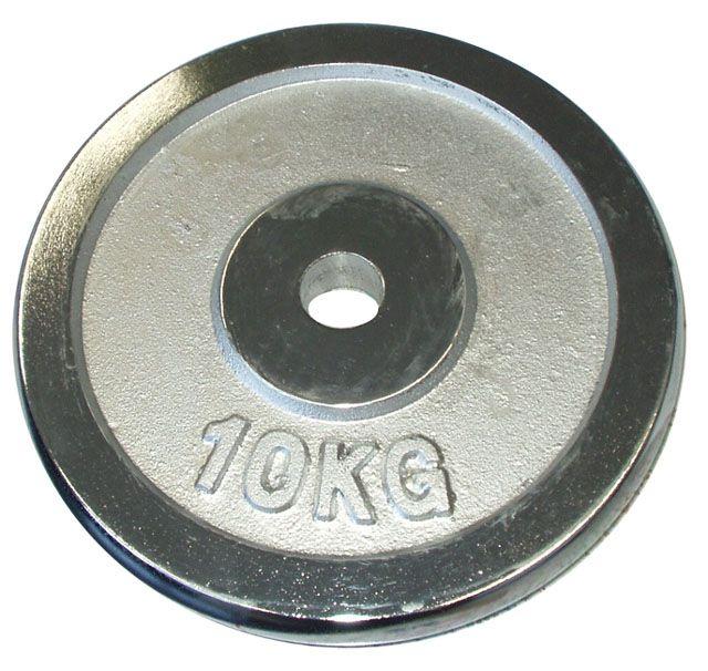 Chromované závaží 10kg - 25mm