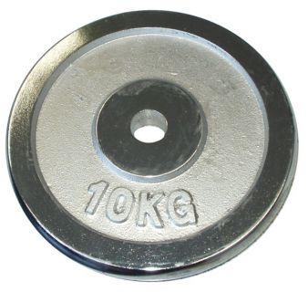 CorbySport Kotouč chrom 10 kg - 25 mm