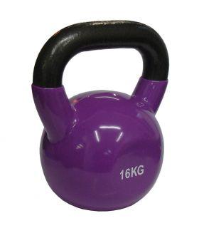 CorbySport Kettlebell Činka vinyl 16 kg